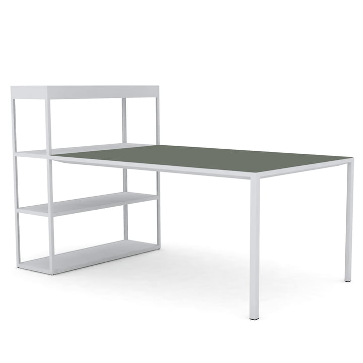 New Order Shelves with Table by Hay in Light Grey / Green Linoleum