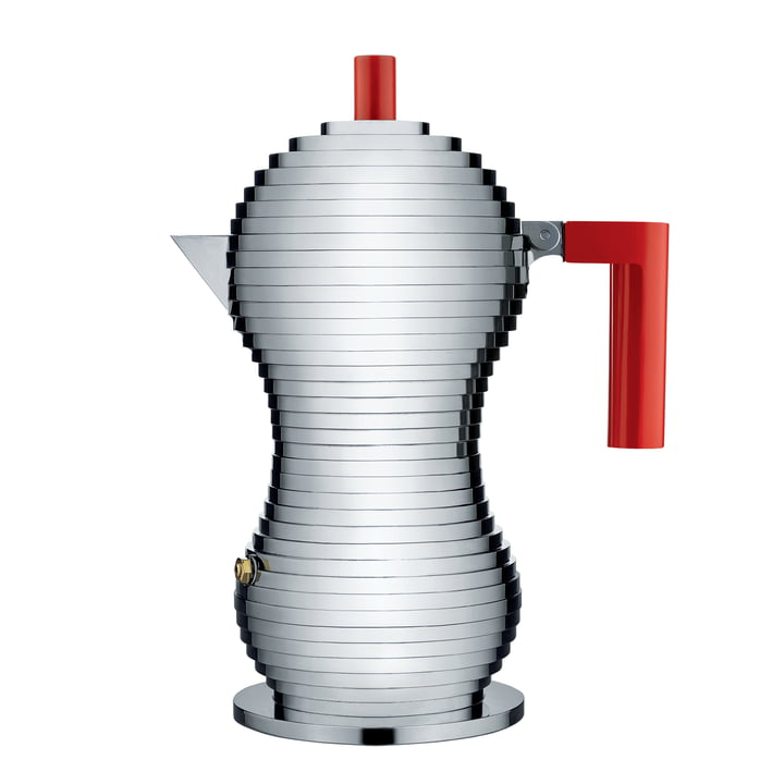 Pulcina Espresso coffee maker 15 cl (Induction) by Alessi in red