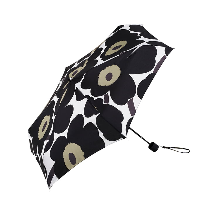 Pieni Unikko Mini Umbrella by Marimekko in Black