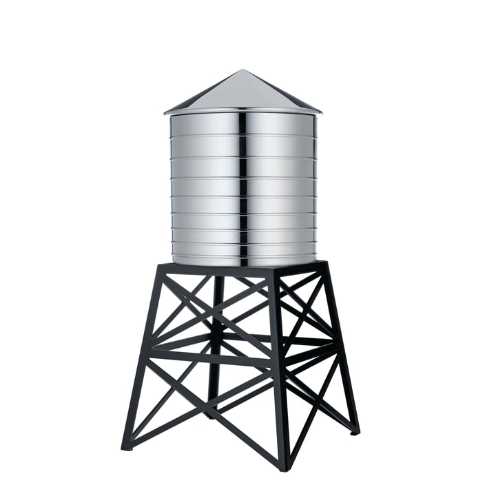 Officina Alessi - Water Tower in stainless steel / steel lacquered black