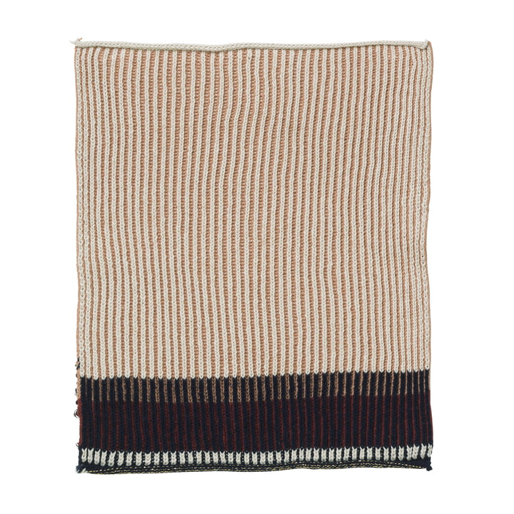 Akin Knitted Tea Towel by ferm Living in Rose