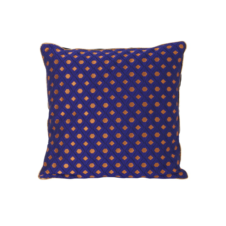 ferm Living - Salon Cushion Mosaic 40 x 40 cm, blue