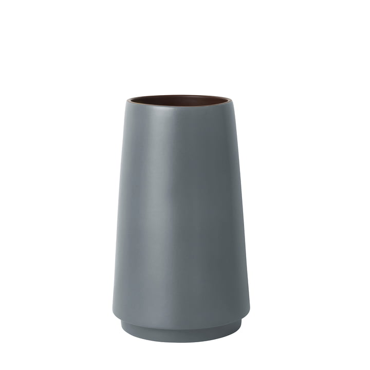 Dual Floor Vase H 31 cm by ferm Living in grey