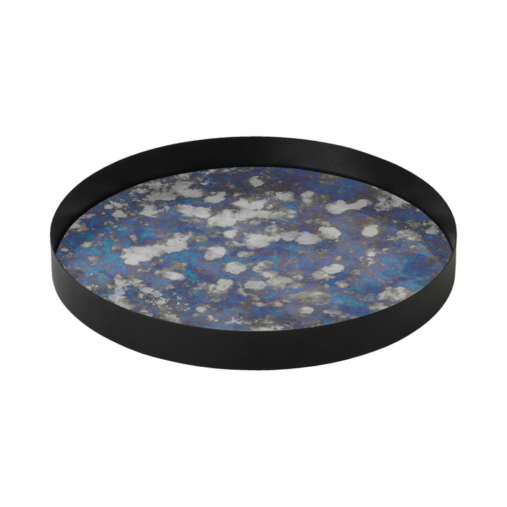 Coupled Tray large Ø 30 cm by ferm Living in blue