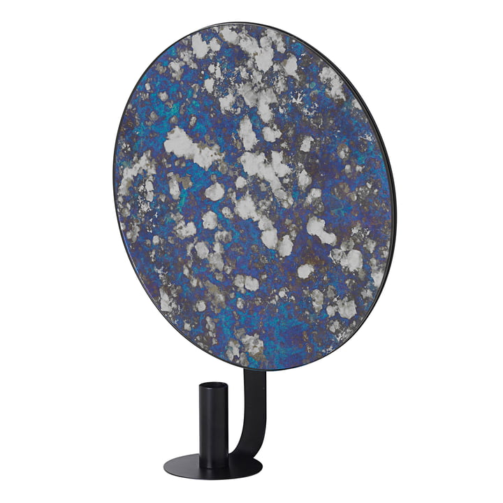 Coupled Wall Candleholder round by ferm Living in blue