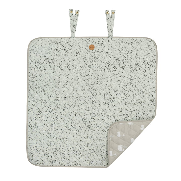 Dot Blanket Mini 80 x 80 cm by ferm Living in Mint