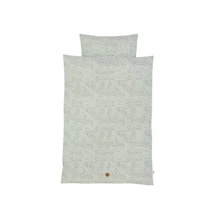 Dot baby bed linen 70 x 100 cm from ferm Living in mint green