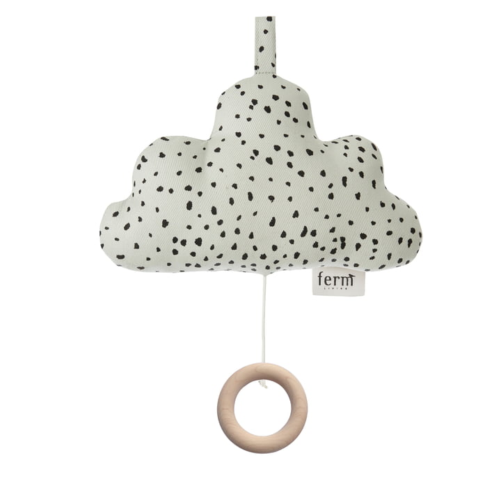 Cloud Music Mobile by ferm Living in mint green