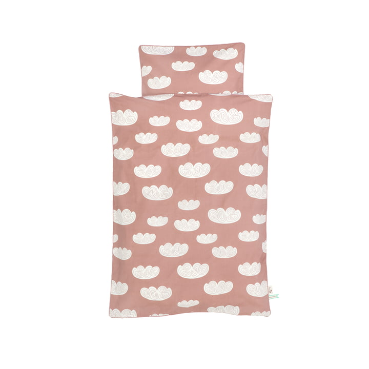 Cloud Baby bedding by ferm Living in Pink