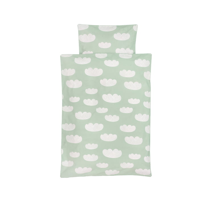 Cloud Baby bedding by ferm Living in Mint