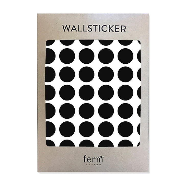 Mini Dots Wall Stickers by ferm Living in Black