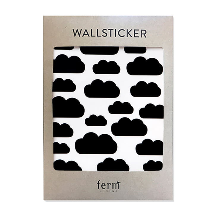 Mini Clouds Wall Stickers by ferm Living in Black