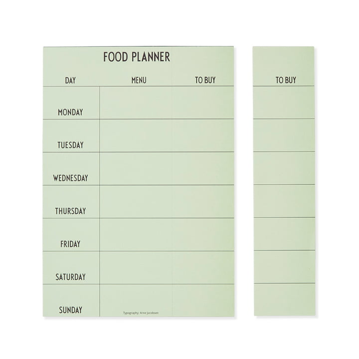 Weekly Food Planner by Design Letters