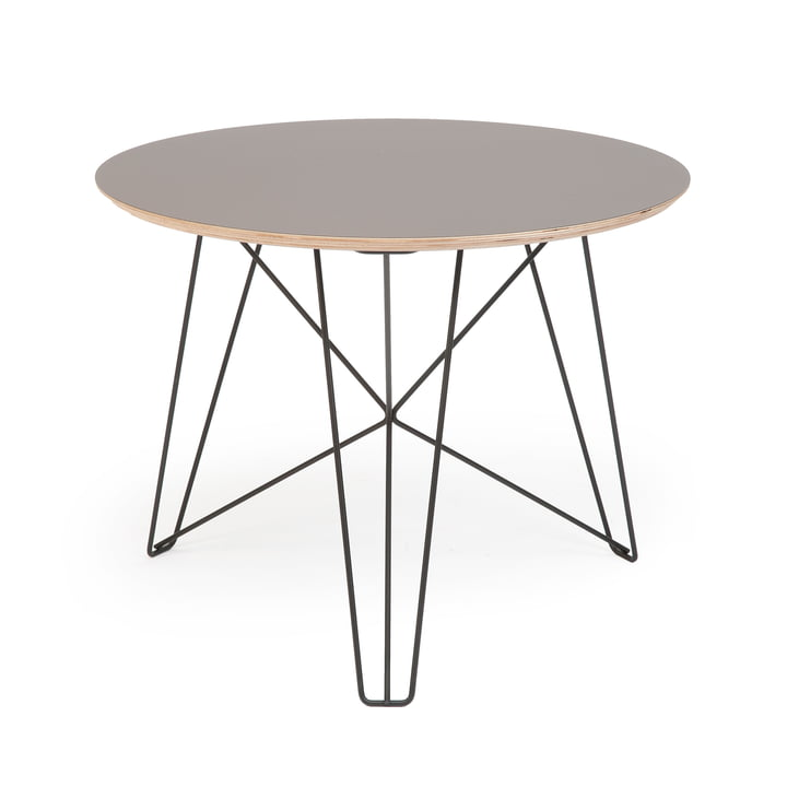 Spectrum - IJhorst coffee table L, Ø 60 cm, black (RAL 9005) / gray