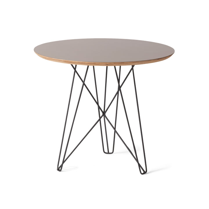 Spectrum - IJhorst side table M, Ø 50 cm, black (Ral 9005) / grey
