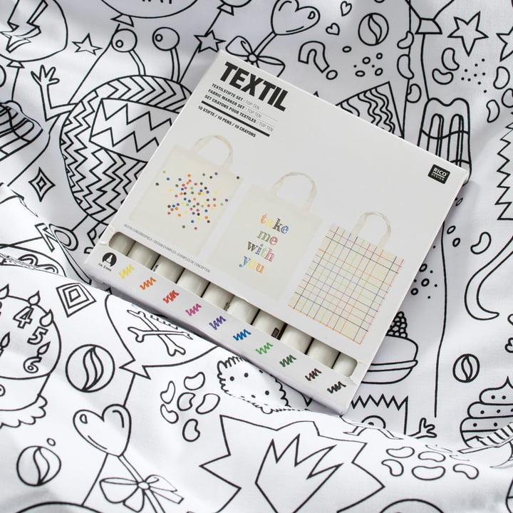 Beanbag incl. 10 pens for coloring