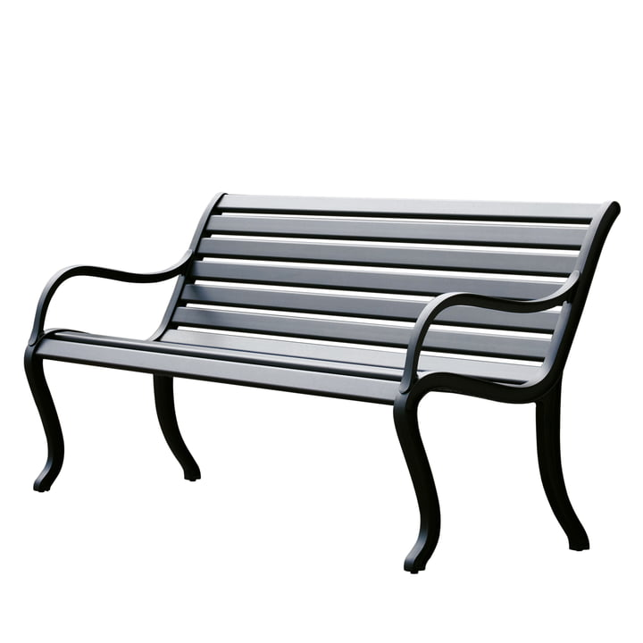 Oasi bench 127 cm by Fast in black