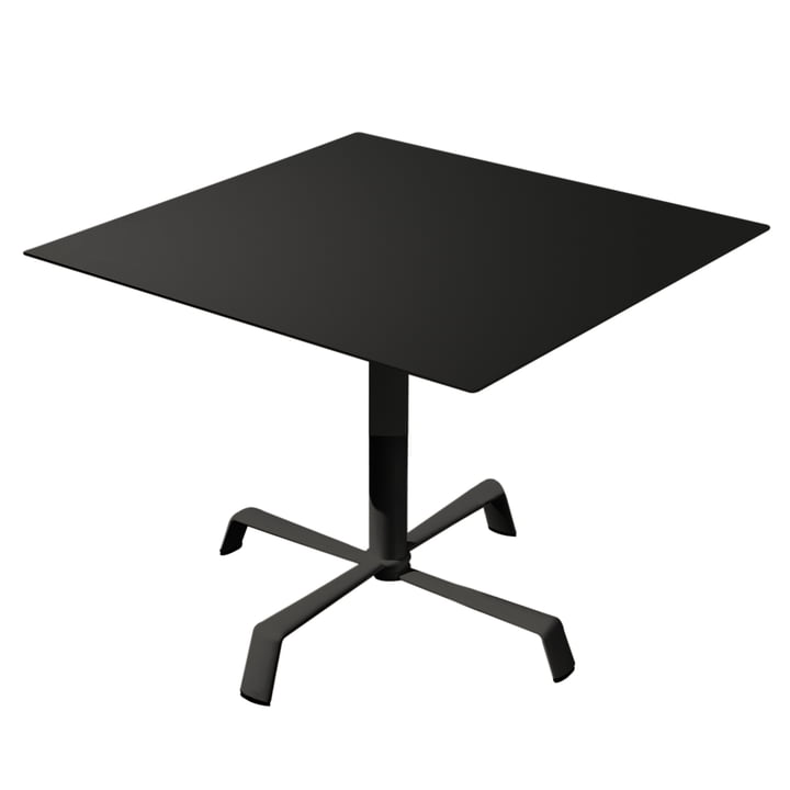 Tonik table 70 x 70 cm Elica frame by Fast in black