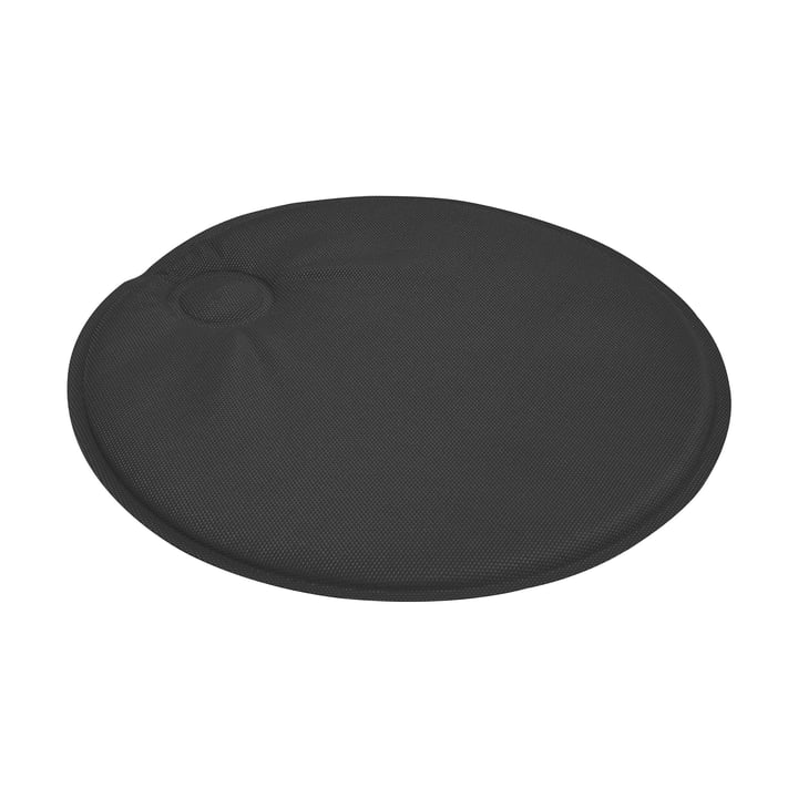 Round magnetic cushion by Emu in black