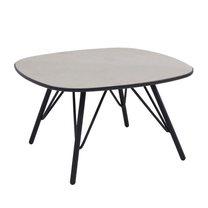 Lyze table 70 x 70 cm by Emu in black