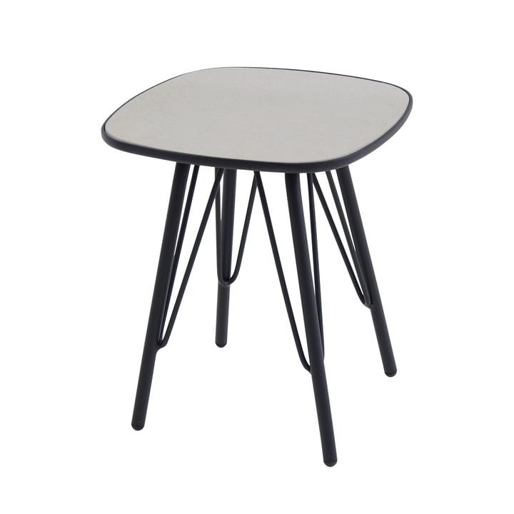 Lyze table 40 x 40 cm by Emu in black