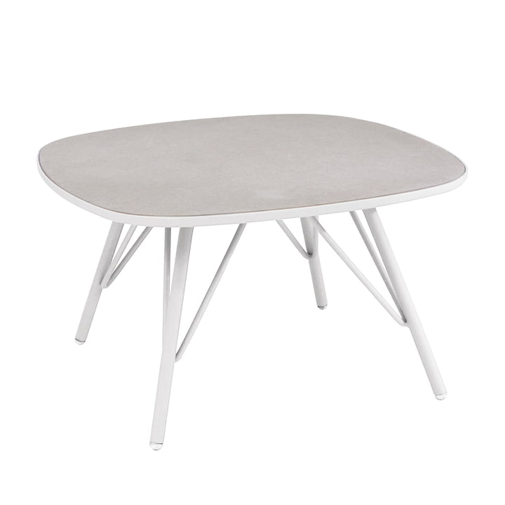 Lyze table 70 x 70 cm by Emu in white