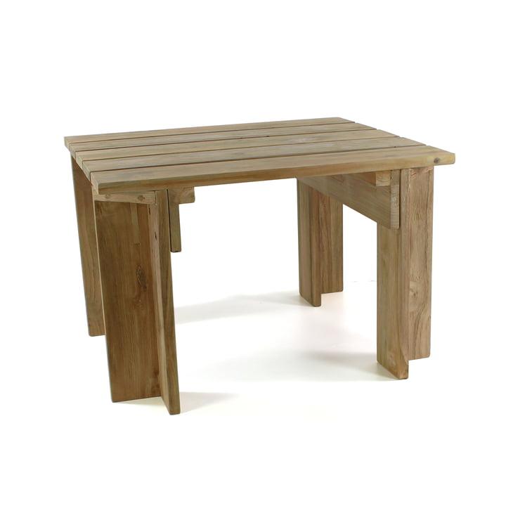 Batten beach side table by jan kurtz for Beistelltisch outdoor