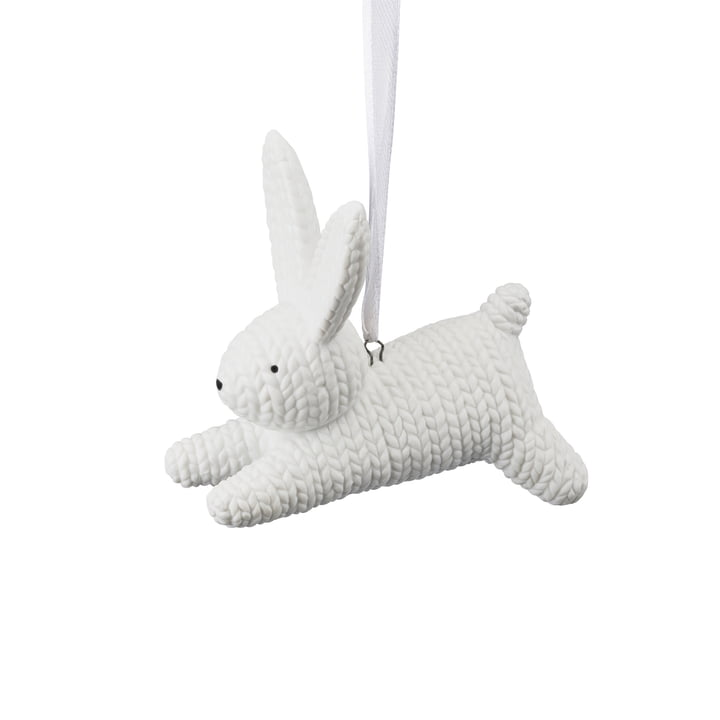 Pendant rabbit, small by Rosenthal in white