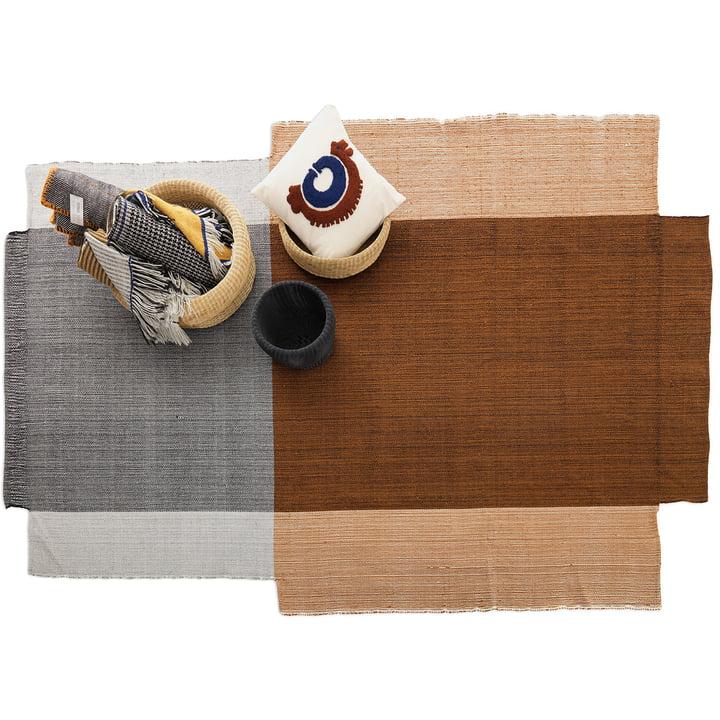 Nobsa Wool Rug in Shades of Ochre