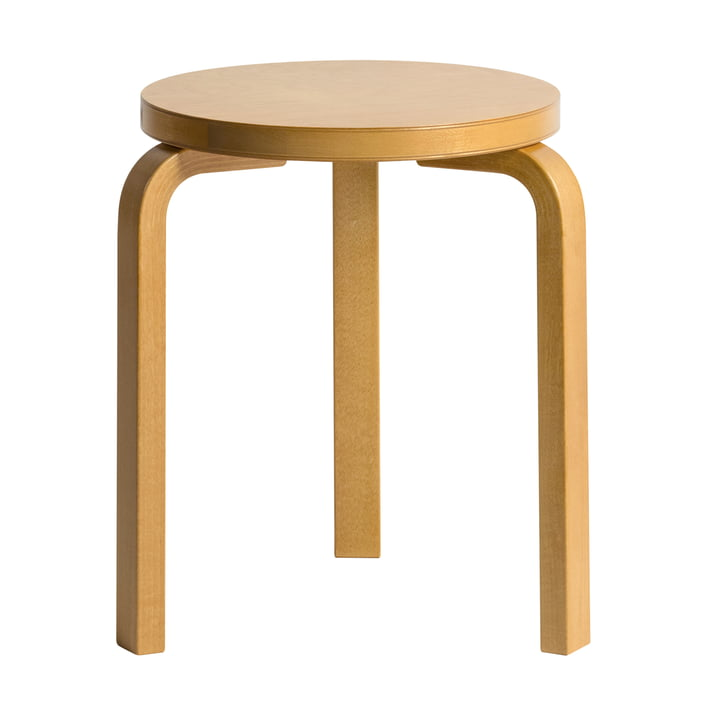 Stool 60 out of honey stained birch by Hella Jongerius for Artek