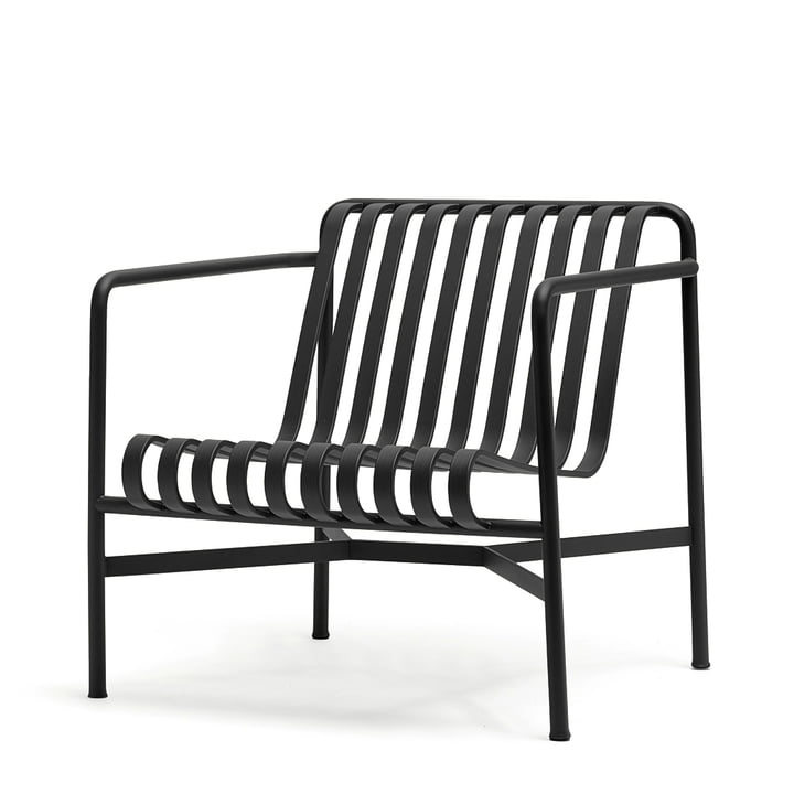 Palissade Lounge Chair Low by Hay in anthracite