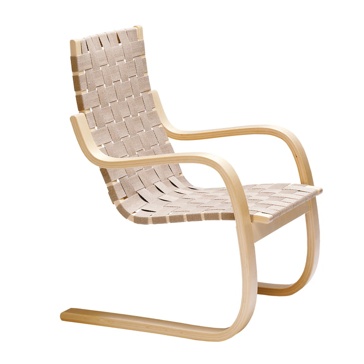 Lounge chair 406 by Artek in birch / natural