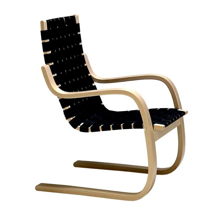 Armchair 406 by Artek in birch / black