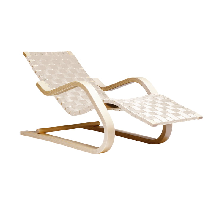 Lounge chair 43 by Artek in birch / natural