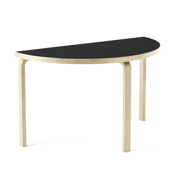 95 table by Artek in natural birch / black linoleum