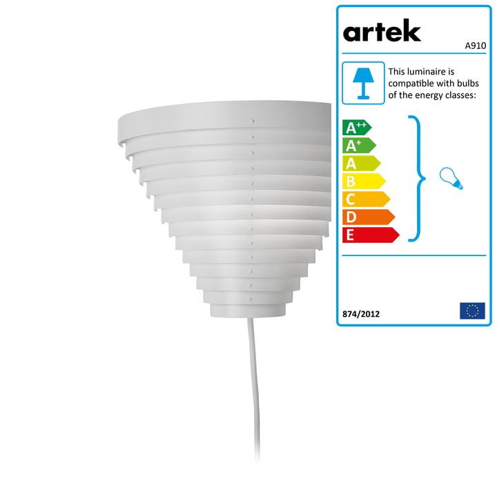 Wall Lamp A910 by Artek