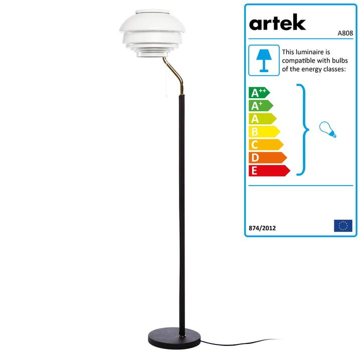 A808 Floor Lamp by Artek in white