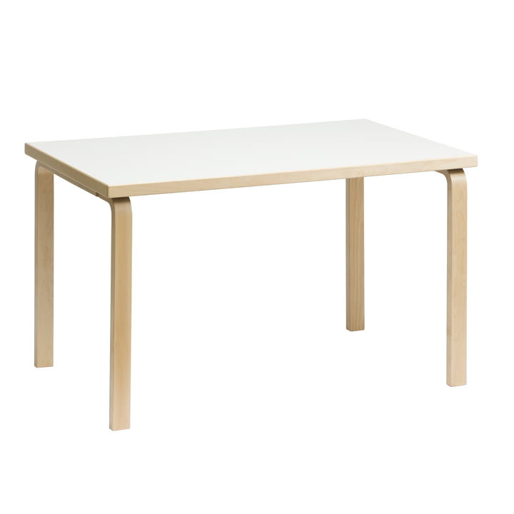 81B Table by Artek Natural Birch / White Laminate