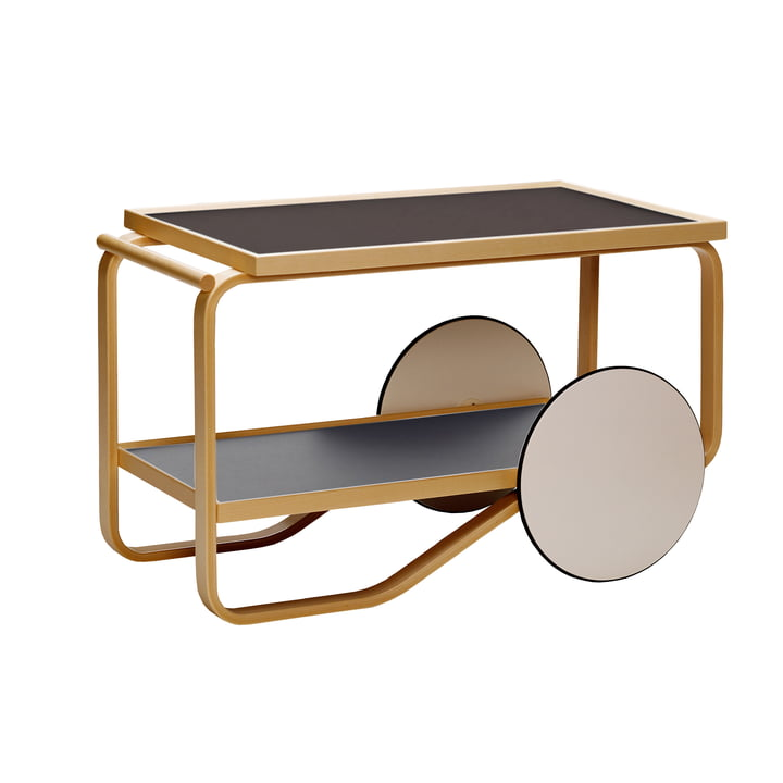 901 Tea Trolley by Artek in Linoleum Black