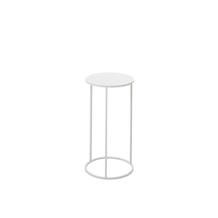 The Rack umbrella stand & side table by Schönbuch in white