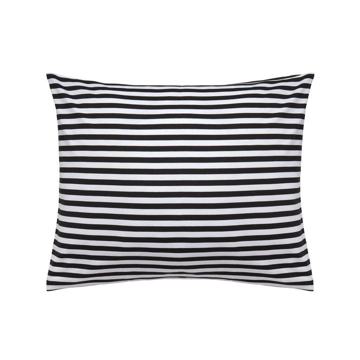 Tasaraita pillow cover 50 x 60 cm by Marimekko in black / white