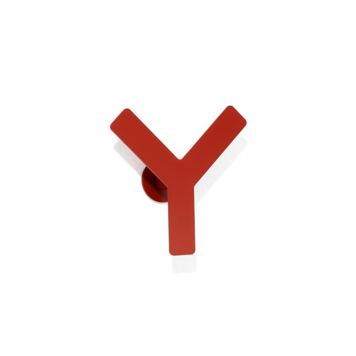 Hook Y by Schönbuch in cherry red
