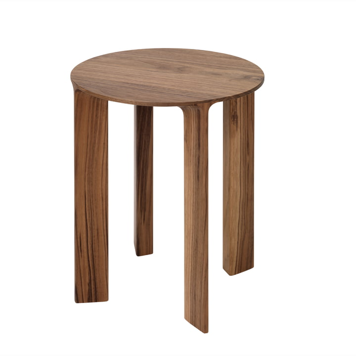 Hans Stool & Side Table by Schönbuch in walnut with a natural oiled finish.