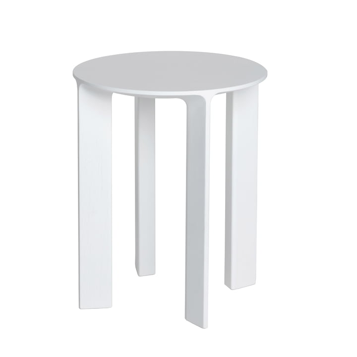 Hans Stool & Side Table by Schönbuch in snow white oak (RAL 9016)