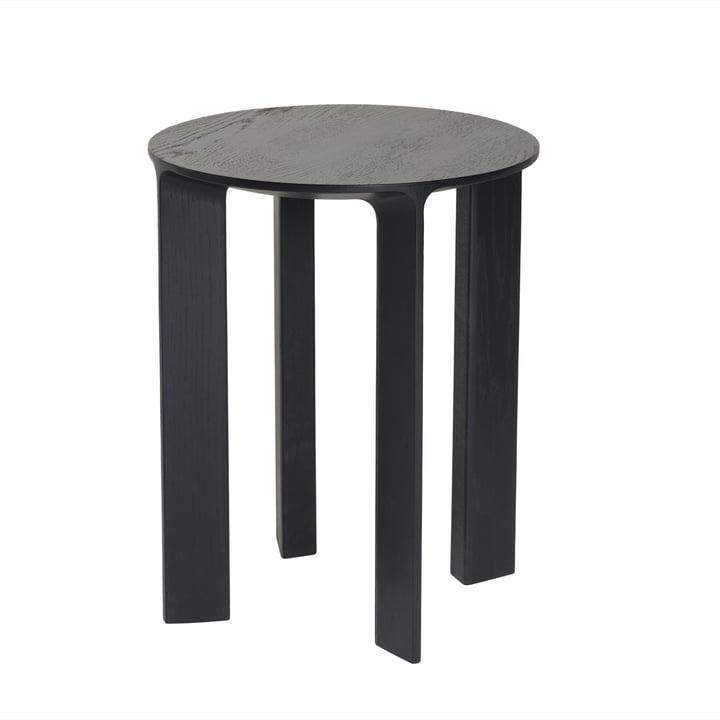 Hans Stool & Side Table by Schönbuch in slate black oak