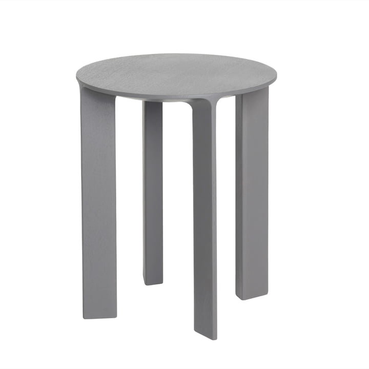 Hans Stool & Side Table by Schönbuch in stone gray oak