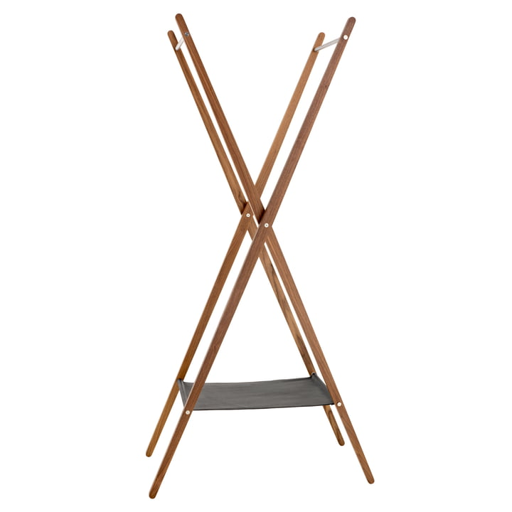 Fold coatstand by Schönbuch in mat walnut