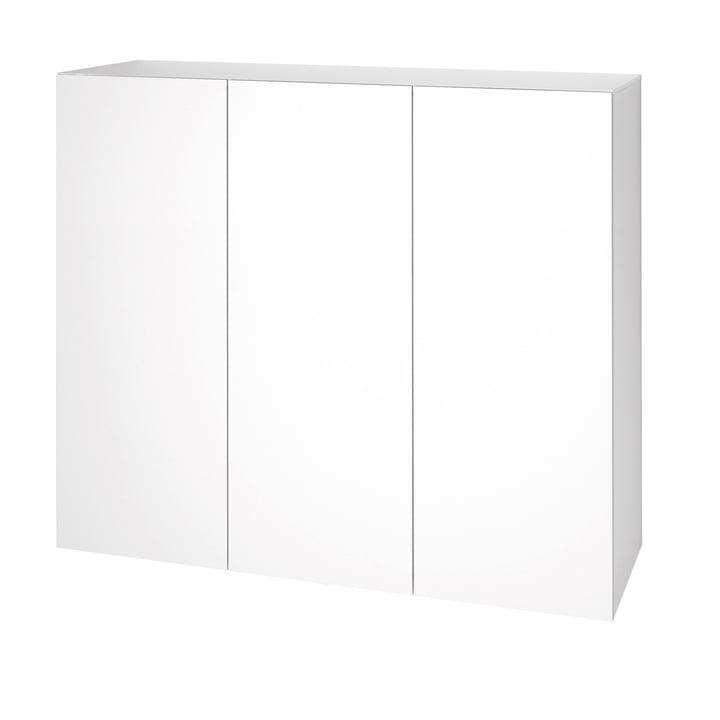 Urban Dresser 1073 (120 cm, 3 doors) by Schönbuch in snow white (RAL 9016)