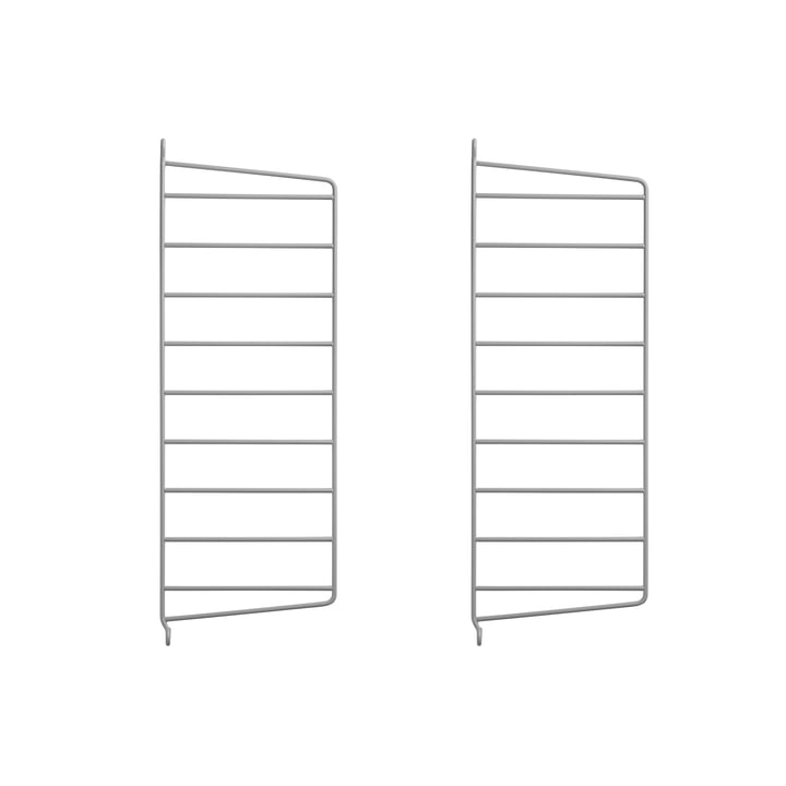 Wall ladder for string shelf 50 x 20 cm from string in grey (set of 2)