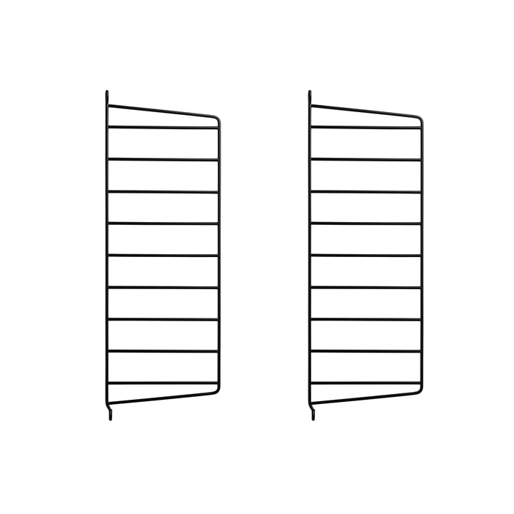 Wall Ladder for String Shelf 50 x 20 cm from String in Black (Set of 2)